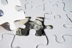 US Currency puzzle Stock Photo
