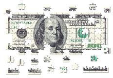 US Currency Puzzle Stock Images