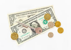 US Currency  on White Background. Stock Photography