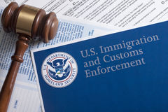 US Customs and Border Protection. Form to fill out Stock Photography