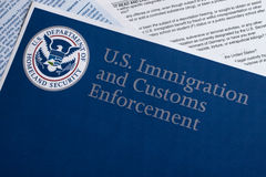 US Customs and Border Protection. Form to fill out stock photos