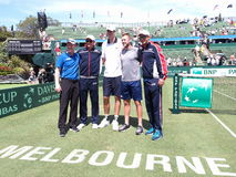 US Davis Cup team after winning the Davis Cup tie against Australia Royalty Free Stock Photos