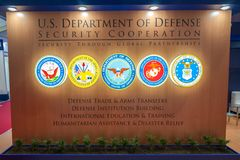 US Department of Defense Security Cooperation royalty free stock photo