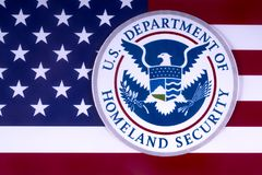 US Department of Homeland Security royalty free stock images