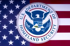 US Department of Homeland Security royalty free stock image