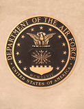 Us dept. of the air force plaque Stock Images
