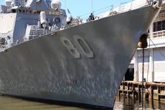 US Destroyer. US Navy Destroyer docked in New York during fleet week Stock Photography