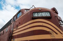 US-Diesellokomotive gesehen an einem Museum in Neu-England, USA lizenzfreie stockbilder