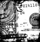 US dollar. With news paper text stock illustration