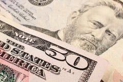 50 US dollar Royaltyfri Bild