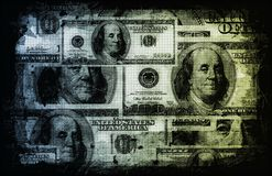 US Dollar Abstract. Currency Notes as Background Stock Photography