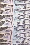 100 and 50 US dollar abstract background. stock photo