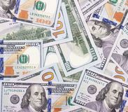 100 US dollar abstract money cash background. Stock Images