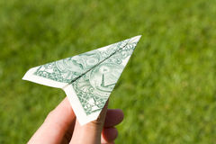 US Dollar Airplane Stock Photos