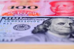 Us Dollar And RMB Stock Photo
