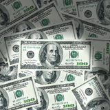 US dollar background. 100 US dollar banknote background Stock Photos