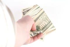 US dollar bakgrund som betalar begrepp Royaltyfria Bilder