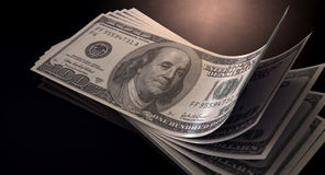 US Dollar Bank Notes Spread Stock Images