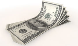 US Dollar Bank Notes Spread Royalty Free Stock Images