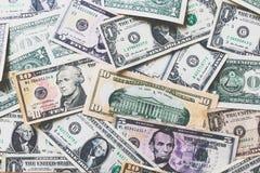 US-Dollar Banknotenhintergrund Stockfotografie
