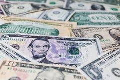 US-Dollar Banknotenhintergrund Lizenzfreies Stockfoto