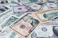 US-Dollar Banknotenhintergrund Lizenzfreie Stockbilder