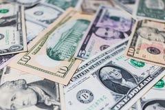 US-Dollar Banknotenhintergrund Lizenzfreie Stockfotografie