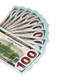 100 US Dollar Banknotes Stock Photo
