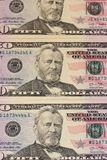 50 US dollar banknotes background or texture. stock photo