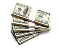 US dollar banknotes Stock Image