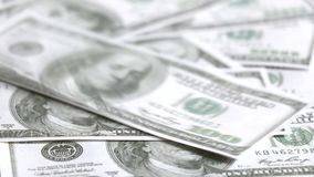 US dollar banknotes stock video footage