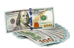100 US Dollar Banknotes Royalty Free Stock Image