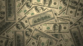 US 100 dollar bill banknote green money cash banking stock video