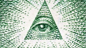 US Dollar Bill Eye of Providence stock video footage