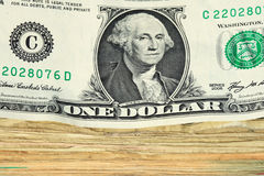 US dollar bill stack macro Royalty Free Stock Photography
