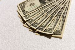 Us Dollar Bills Royalty Free Stock Photography