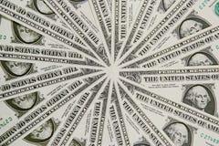 US Dollar Bills. Pin wheel design of US one dollar bills Stock Photography