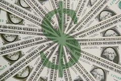 US Dollar Bills. Pin wheel design of US one dollar bills Stock Images