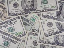 US dollar bills. American US dollar bills background Royalty Free Stock Images