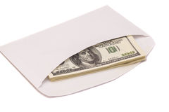 US dollar bills in an envelope Royalty Free Stock Images