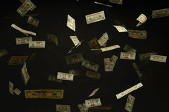 US Dollar Bills Falling Stock Photo