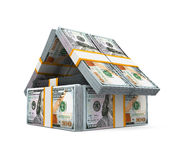US Dollar Bills Pack Money House Royalty Free Stock Images