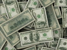 US dollar bills Royalty Free Stock Images