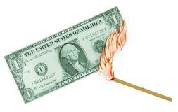 US Dollar Burn Stock Image