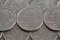 US dollar coins Royalty Free Stock Photography
