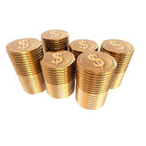 Us dollar coins coins isolated on a white Stock Image