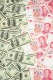US-Dollar gegen China Yuan Stockbilder