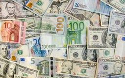 US-Dollar gegen Euro Stockbilder