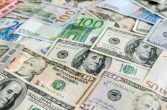 US-Dollar gegen Euro Lizenzfreie Stockfotos
