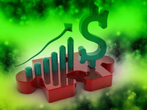 US Dollar graph with Puzzle Stock Photography